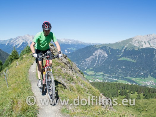 stock photo mountain biker