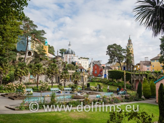 stock photo Wales Portmeirion