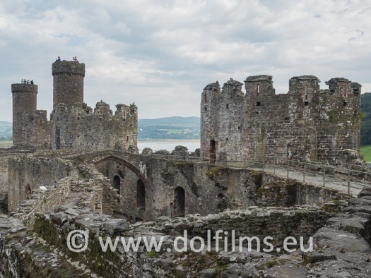 stock photo Wales Conwy Castle