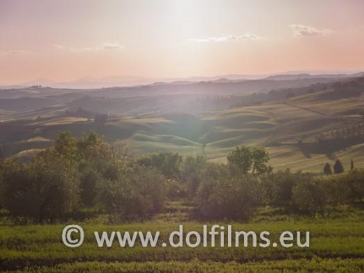 stock foto dusk Tuscany