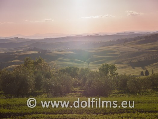 stock photo Tuscany at dusk