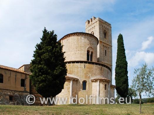 stock foto abbey of Sant'Antimo Tuscany