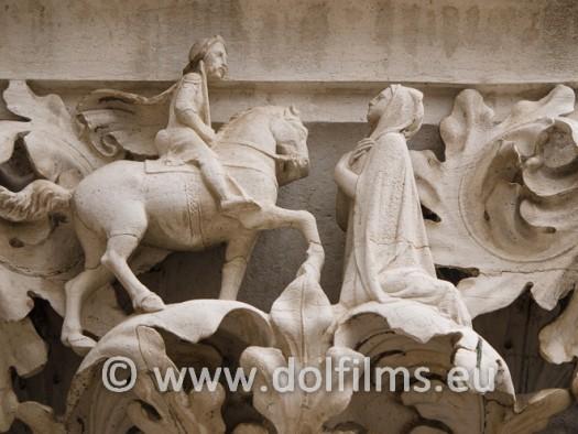 stock photo statues Venice