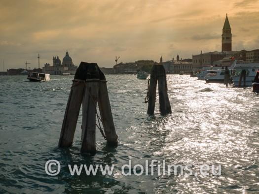stock foto sunset Venice