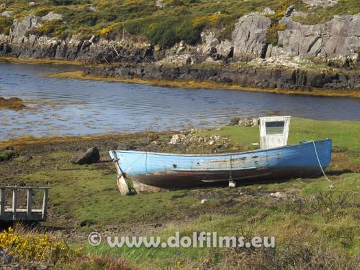 stock photo boat on land